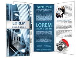 Electronic Brochure Template Electronic Circuit Brochure Template Design Id 0000001420