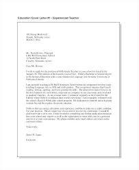 Sample Elementary Education Cover Letter Cover Letter Substitute