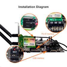 5g 2 4g pci e pci express wireless lan card bluetooth 4 0 wifi 5g 2 4g pci e pci express wireless lan card bluetooth 4 0 wifi network ac1542