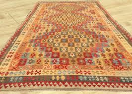 extra large size amazing afghan hand woven veg dyes ghazni wool kilim area rug 503 cm