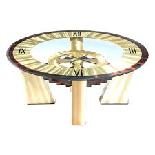clock coffee table round clock coffee table clock coffee table home design ideas and pictures cog
