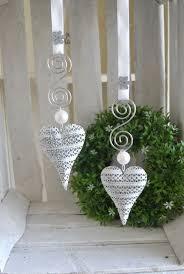 Fensterdeko 2 Set Filigranes Herz Längliche Form Perle