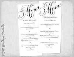 014 Wedding Menu Template Free Ulyssesroom