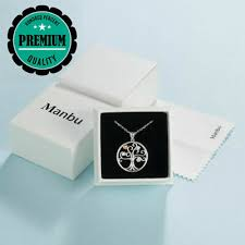 <b>MANBU 925</b> Sterling Silver Charm Tree of Life Heart Pendant ...