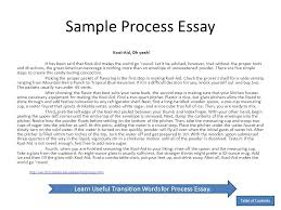 Example Of Process Essays A Process Essay How To Write A Process Essay Having 30