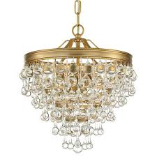crystorama calypso 3 light vibrant gold mini chandelier