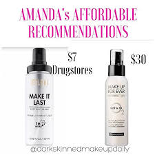 makeup setting spray matte finish bianca and i have two diffe skin types i m very dry diy
