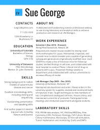 great resume layout resumes  science worker cv best practice