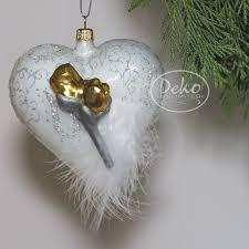 Christbaumschmuck Gmc Heart With Roses Herz Mit Rosen
