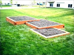landscape timber raised bed using landscape timbers for raised garden