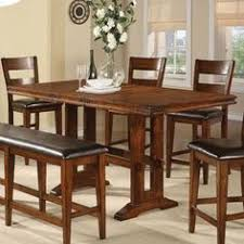 dining room pub style sets: kitchen pub style dining table with four chairs and a bench
