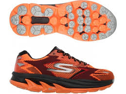 skechers running shoes for men. skechers orange go run ultra running shoes for men