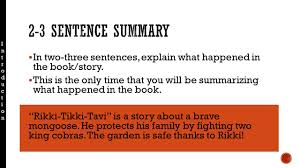 students will be able to address a prompt in essay format while in two three sentences explain what happened in the book story