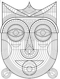 Design Patterns To Color Coloring Page For Kids Geometric Design Coloring Pages For