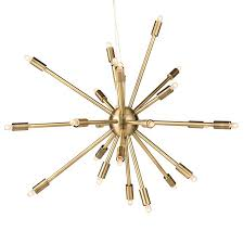 nuevo living sergei sputnik pendant lamp in antique brass large