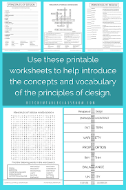 Elements And Principles Of Design Crossword Puzzle The Principles Illustrated Principles Of Design Posters And