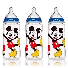 NUK 62049 Disney Baby <b>Bottle with Perfect Fit</b> Nipple 10 Oz 3 Pack ...