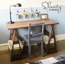 wood sawhorse desk diy