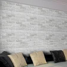 10m Witte Grijze Baksteen Steen Prepasted Adhesive Contact Papier