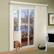 hinged patio door with dog door