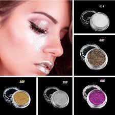 5 colors woman makeup waterproof eyeshadow loose powder shine glitter eyeshadow beauty eye shadow pigment masquerade
