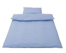 Light Blue Gingham Duvet Cover Baroo Blue Gingham Cotbed Duvet Cover And Pillow Case Set