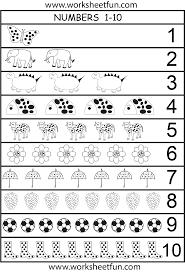 Preschool Number Chart 1 10 Number Chart 1 10 Preschool Worksheets Free Kindergarten
