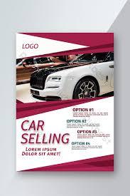 Red Stylish Geometric Car Sale Flyer Template Ai Free