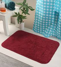 solid cotton 24 x 16 inch bath mat by bianca