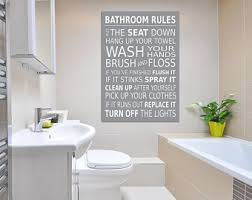 bathroom rules wall picture bathroom wall art canvas print grey a1 a2 a3 a4 on downstairs toilet wall art with bathroom wall art etsy
