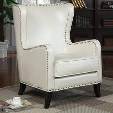 absolutely smart white leather accent chair  living room