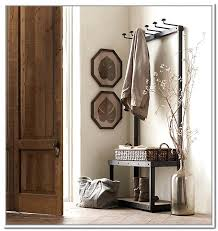 Coat Rack And Storage Simple Metal Entryway Storage Bench With Coat Rack Monthlyteesclub