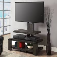 whalen 3 shelf television stand with floater mount for tvs up to 50 perfect for flat screens weathered dark pine finish com