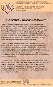 Sample Love Letter Wine Box Ceremony | Unique Wedding Ceremony Ideas ...