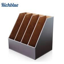 4 slots desk file doent holder organizer rack brown
