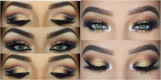 black and gold perfect eye shadow to plement green eyes
