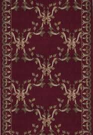 O Ashton House A01R Ribbon Trellis Burgundy 3u0027 Foot Wide Hall And Stair Runner