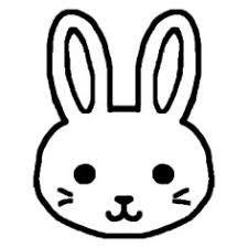 ウサギうさぎ1白黒陸の動物の無料イラストミニカットクリップ