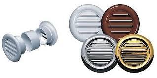 <b>Mini Circle Air</b> Vent Grille Door <b>Round</b> Ventilation Cover White ...