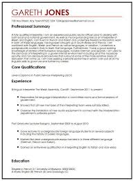 Language Skills In Resume Example Resume Language Section