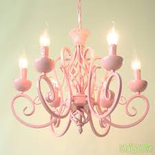 contemporary pink chandelier iron led pendant light princess room ceiling lamp
