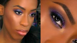 dark skin purple smokey eye prom makeup tutorial 2016 you