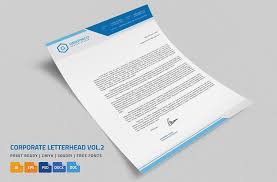 Corporate Letterhead 2 With Ms Word Stationery Templates