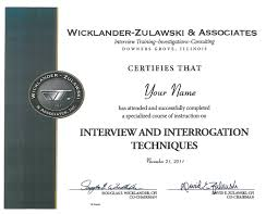 wz certified wicklander zulawski have completed wz training courses throughout their careers these certificates do not certify expertise in the techniques taught at the seminar