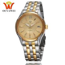 popular self winding watches men buy cheap self winding watches luxury brand ouyawei relojoes hombre male automatic self wind watch men full steel band fashion classic