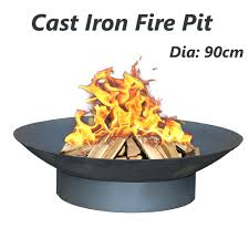 fire pit cast iron patio heater open vintage fireplace plant bowl o cooking grate large table