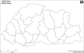 bhutan blank map blank map of bhutan bhutan outline map on paris map printable
