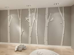birch tree 3d wall art