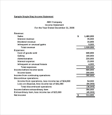 monthly profit and loss statement template free download k basic income statement format accounting example the four