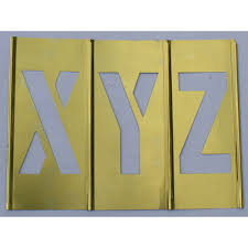 letter and number brass stencil set